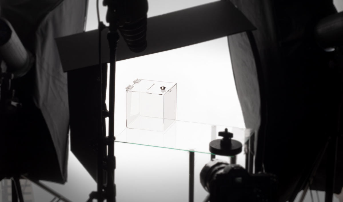 Studio foto przedmioty przezroczyste